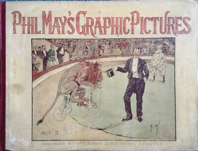 Phil May's Graphic Pictures. Landscape Hardback. Wonderful Illustrations  • 21£