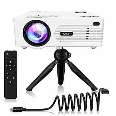 $ CDN192.81 • Buy QKK 5000Lux Mini Projector For Outdoor Movies [Tripod Included], 200  Display