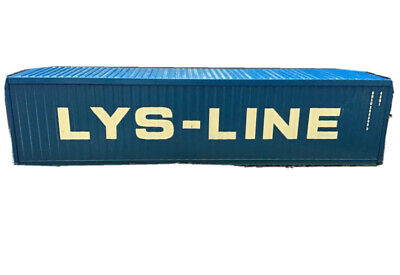 CORGI 1/50 40ft SHIPPING CONTAINER LYS-LINE LIVERY Mint Ideal Code 3 • 22.99£