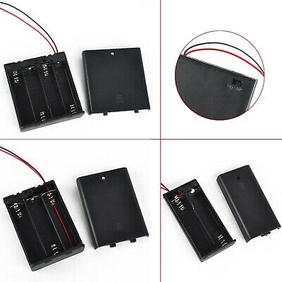 AU3.69 • Buy AA Power Battery Storage Box Case Holder ON/OFF Switch W/Wire Lead 2/3/4 Slot