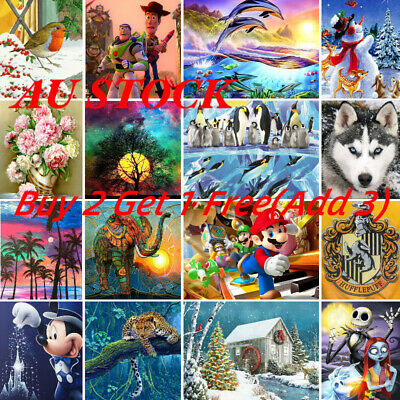 AU10.99 • Buy DIY 5D Full Drill Diamond Painting Cross Stitch Kits Embroidery Decor New Sale