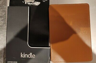 Amazon Kindle Hard Case Leather Cover - Light Brown Only Suitable For Kindle • 9.99£
