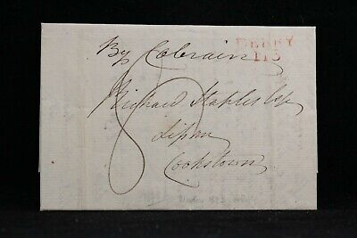 £29.10 • Buy Ireland: Moville 1818 Stampless Cover To Cookstown, Red DERRY Straight Line