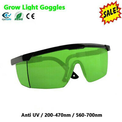 LED Grow Light Glasses Indoor Hydroponic Room Plant Visual Eye Protector UV BE • 6.12£