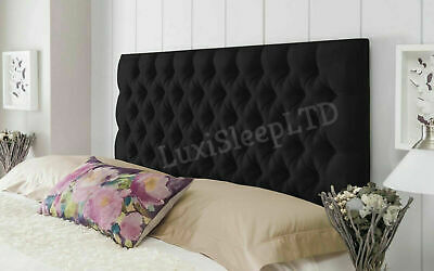 Colchester Bed Headboard In Plush Fabric Single Double King Super King 26  Tall • 53.95£
