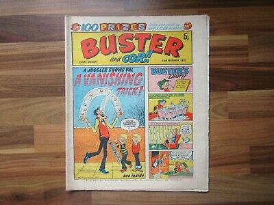 £5.99 • Buy Vintage Comic - Buster And Cor!! - 22nd February 1975
