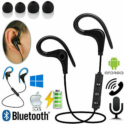 Sweatproof Wireless Bluetooth Earphones Headphones Sport Gym For Samsung &iPhone • 5.49£
