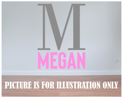 Personalised Vinyl Wall Sticker For Childrens Kids Bedroom Diy Name Initial • 3.59£