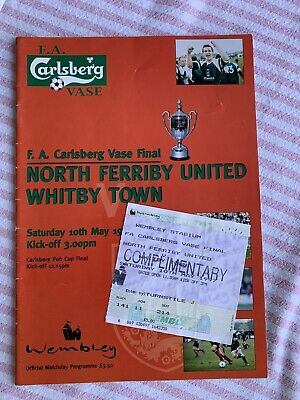 North Ferriby United V Whitby Town 1997 FA Vase Final &  Programme & Ticket • 5.99£