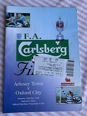 Arlesey Town V Oxford City 1995 FA Vase Final &  Programme & Ticket • 4.99£