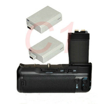 Pro Battery Grip Pack For Canon EOS T2i 550D 600D 650D Camera + 2X LP-E8 Battery • 32.21£