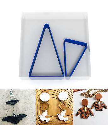 SMALL 3/5CM Triangle Polymer Clay Cutter Jewellery Making Kit Craft Set 2 • 3.99£