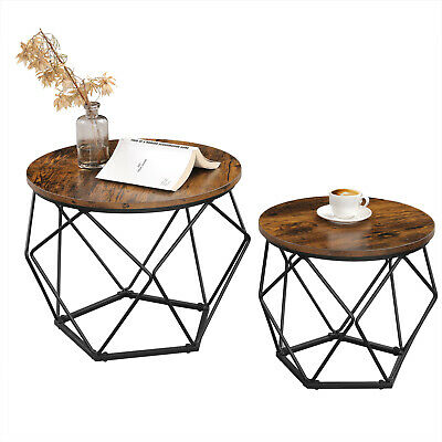 £49.99 • Buy Set Of 2 Side Tables, Coffee Tables, Tea Table, Side End Tables, Living Room