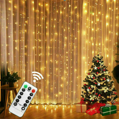 LED Curtain Fairy Lights USB String Hanging Wall Wedding Party Decor Waterproof • 7.99£