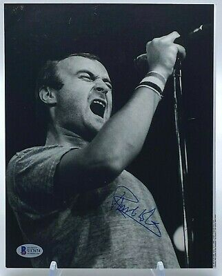 £275 • Buy Phil Collins Signed 10x8 Photo Genesis BAS Beckett Certified