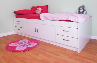 £197.82 • Buy Gamma Cabin Bed With Cupboard And 4 Large Drawers In White - R236W