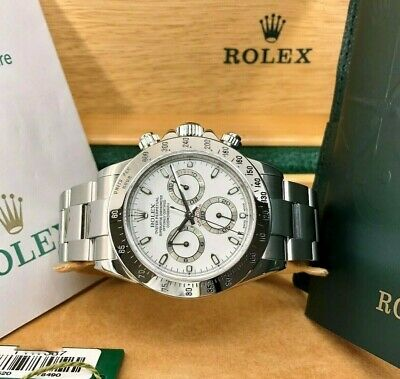 $ CDN33178.63 • Buy Rolex Cosmograph Daytona 40mm Stainless Steel White Dial 116520 Box & Papers