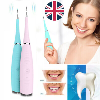 £11.99 • Buy Electric Tooth Stains Cleaner Ultrasonic Oral Dental Teeth Cleaning Kit UK Stock