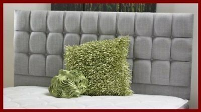 Beautiful Brand New Earl Buttoned Bed Headboard 26  Tall In Chenille Fabric • 29.95£