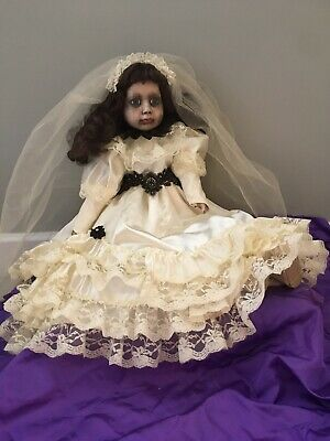 Ooak Creepy Horror Porcelain Bride Doll Zombie Gothic Death Halloween Prop • 50£