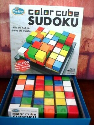 ThinkFun Color Cube Sudoku Ages 8 To Adult Flip Cubes Solve The Puzzle VG-EUC • 14.14£