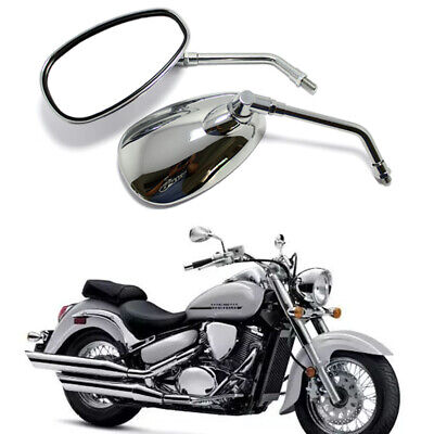 AU35.69 • Buy Chrome 10mm Motorcycle Rearview Mirrors For Suzuki Boulevard C50/T 90T M90 M109R
