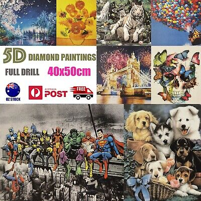 AU16.99 • Buy 5D Diamond Painting Crystal Embroidery Cross Stitch Pictures Large Kit 40 X 50cm