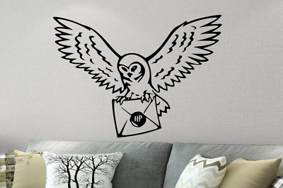 Harry Inspired Potter Wall Owl Letter Sticker Decal Art Bedroom Kitchen Home • 3.99£