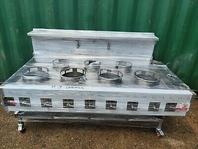 Chinese Wok Cooker 7 Burners Nat Gas Wok Cooker Commercial Indian Wok BRAND NEW • 3,995£