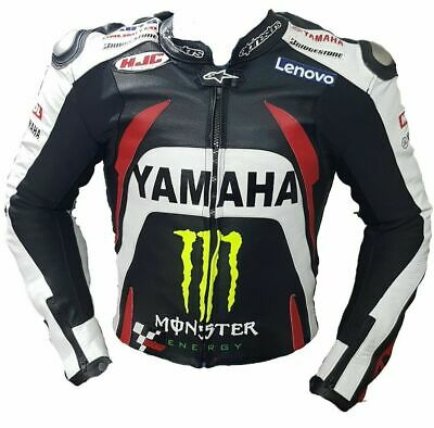 Yamaha Monster Original Cowhide Leather Ce Armoured  Racing Biker Jacket • 164.30£