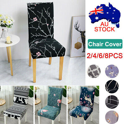 AU6.86 • Buy 1-6 PCS Dining Chair Covers Spandex Slip Cover Stretch Wedding Banquet Party AU