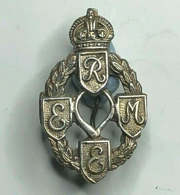 WW2 REME Royal Electrical & Mechanical Engineers Sweetheart Brooch White Metal  • 18.19£