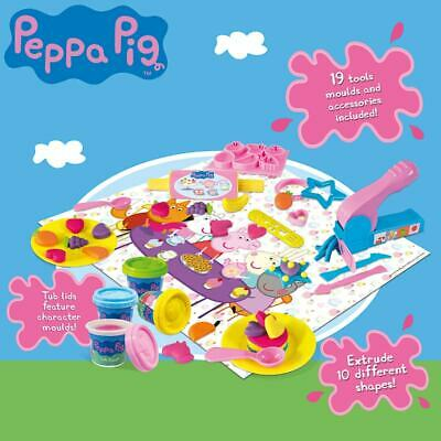 Peppa Pig Tea Party - Play Dough Set - 19 Pc Playset Toy Play Gift Kit Moulds • 17.75£
