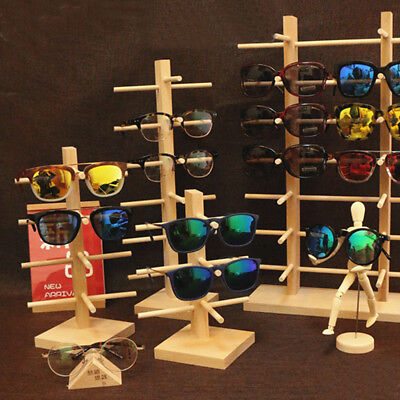 AU17.67 • Buy Wooden Sunglasses Eye Glasses Display Rack Stand Holder Organizer 4/5/6  HOT A