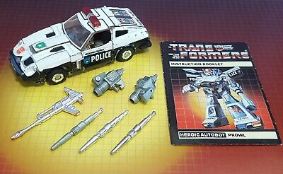 Vintage Hasbro Transformers G1 Autobot Car Prowl Complete W/Instructions • 66£
