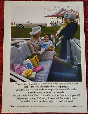 $9 • Buy 1964 Lincoln Continental Convertible Magazine Advertisement
