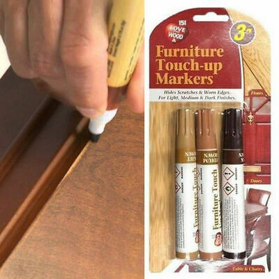 £2.99 • Buy 3 Furniture Touch Up Pen Marker Marks Scratches Laminate Wood Floor Repair NEW