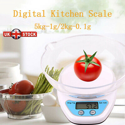 Digital Kitchen Scales Lcd Electronic Cooking Food Measuring Bowl Scale Uk • 6.99£