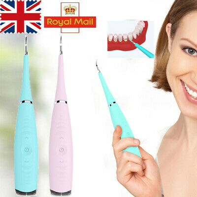 Electric Dental Scaler Tartar Calculus Plaque Remover Teeth Stains Cleaner Tool • 9.99£