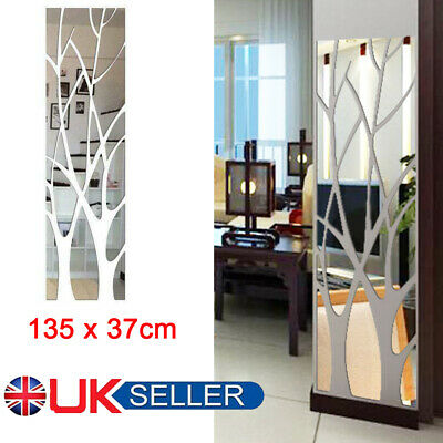 3D Tree Mirror Wall Sticker Removable DIY Art Decal Home Decor Mural Acrylic New • 12.39£