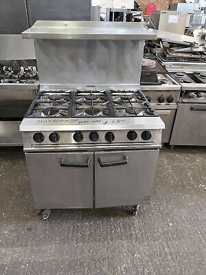 Commercial Falcon 6 Burners Cooker Nat Gas With Splash Back Heavy Duty Oven Used • 680£