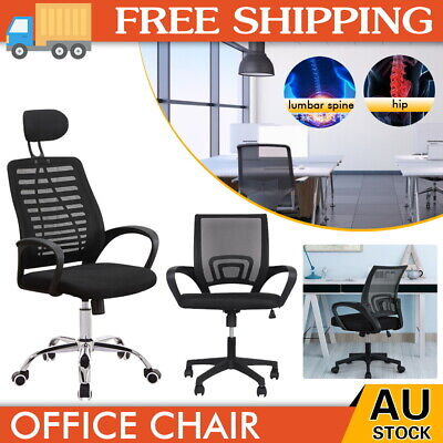 AU45.60 • Buy Ergonomic Office Chair Gaming Computer Mesh Chairs Executive Mid Back Black  AU