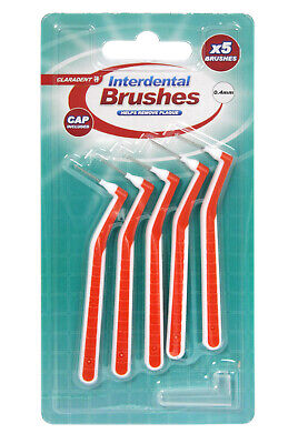 Interdental Brushes 2x5 (10) Helps Remove Plaque Tooth Brush Claradent 0.4mm • 3.59£