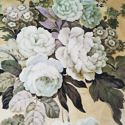 Vintage Sandersons Fabric Reclaimed Cabbage Roses No B • 12£