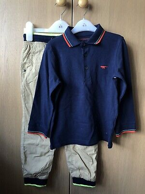 Bluezoo Boys Outfit Dinosaur Bnwt 4-5 Years Trousers And Polo • 15£
