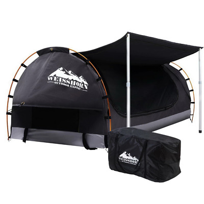 AU234.50 • Buy Weisshorn Double Swag Camping Swags Canvas Free Standing Dome Tent Dark Grey