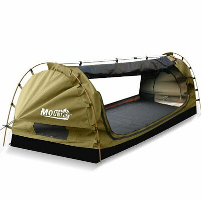 AU218.95 • Buy Mountview King Single Swag Camping Swags Canvas Dome Tent Free Standing Navy