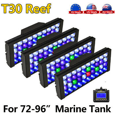 AU675.81 • Buy 4PCS PopBloom Led Aquarium Light Full Spectrum 72  6ft Reef Coral SPS LPS Tank