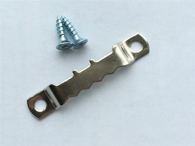 Saw-tooth Picture Hanging Hooks Nickel Plated With Screws Or Without Hangers • 2.45£