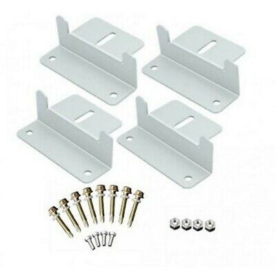 AU19.99 • Buy Solar Panel 4pcs Mounting Kits Z Brackets Aluminum Alloy Fits 4WD Boat Home